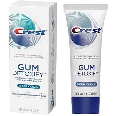 Зубная паста Crest Глубокое очищение и детоксикация от микробовGum Detoxify Deep Clean Toothpaste 116 г - изображение 1