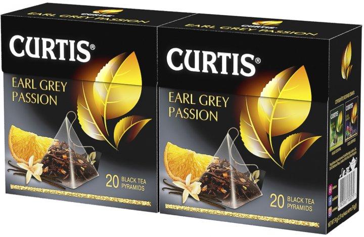 Упаковка чая черного Curtis Earl Grey Passion с добавками пакетированного 20 пирамидок х 2 шт 68 г (2000000000107) - изображение 1