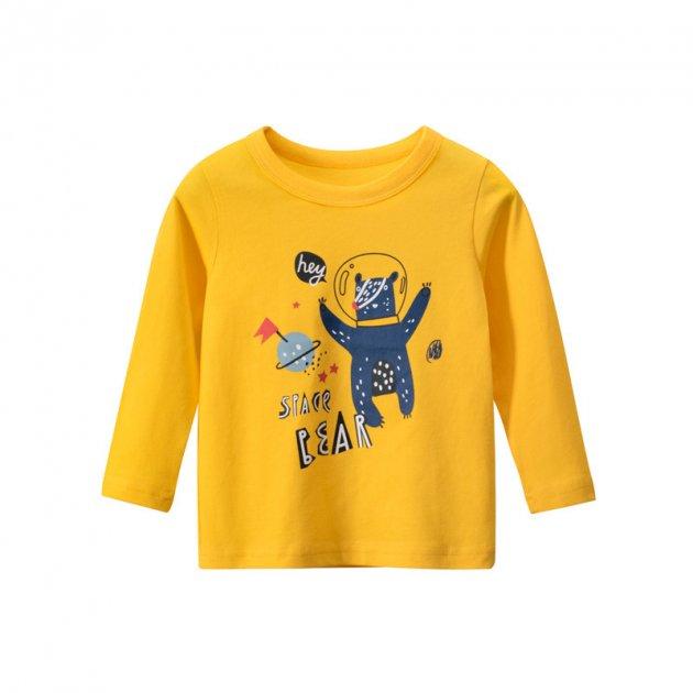 Лонгслив для мальчика Space bear 27 KIDS (90) Желтый (56436) - изображение 1