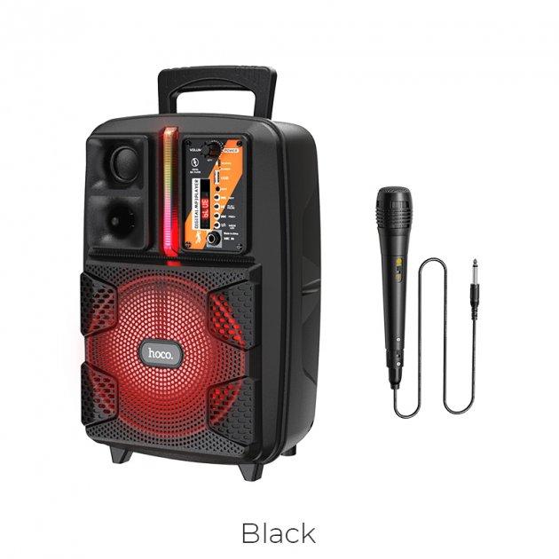 Акустика - караоке HOCO Dancer outdoor wireless speaker BS37 |3Hours, BT5.0, TWS, AUX/FM/USB| с микрофоном Black - изображение 1