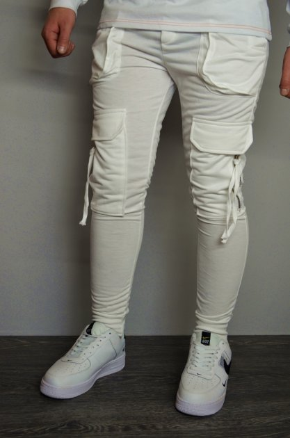 Мужские спортивные штаны hype drive white размер L J-059 - изображение 1