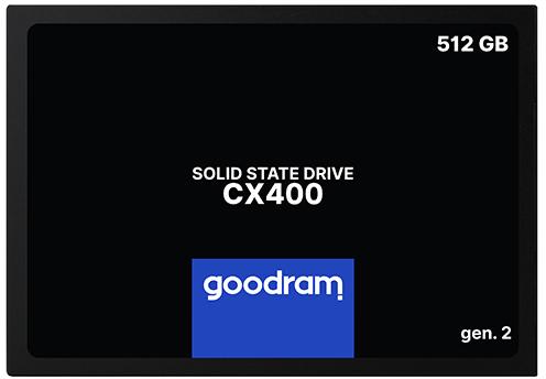 "Goodram CX400 Gen.2 512GB 2.5"" SATAIII 3D NAND TLC (SSDPR-CX400-512-G2) - изображение 1"