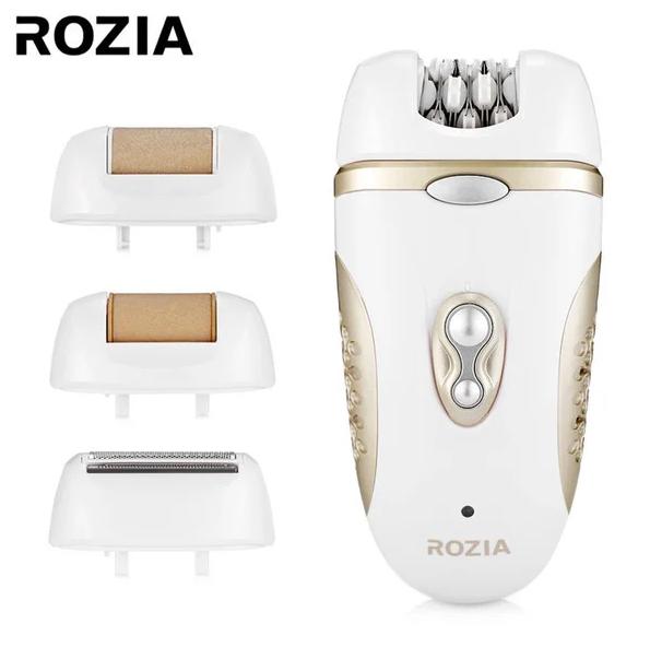 Эпилятор Rozia HB-6007 женский с 4 насадками + подарочная упаковка Белый (11641) - изображение 1