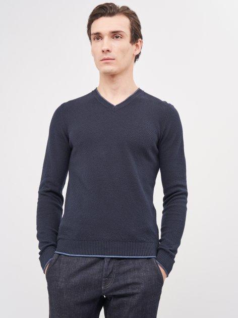 Пуловер Celio Generoso 60028235 S Синий (3596654572972) - изображение 1