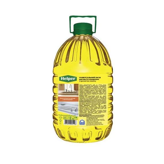Helper Professional универсальное средство для мытья поверхностей c ароматом лимона 5л - изображение 1