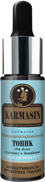 Вітамінізований тонік Pharma Group Laboratories для схильного до випадіння волосся серії Karmasin 14 мл (4820226650959) - зображення 1