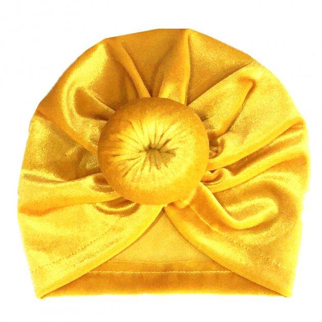 Чалма Пончик 0-12 мес (40-46 см) желтый SN00082 - изображение 1
