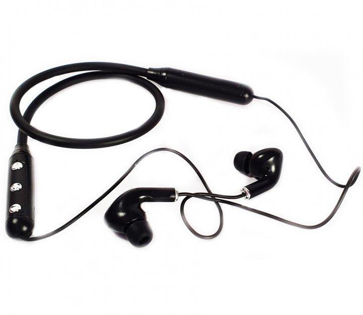 Беспроводные Вluetooth стерео наушники K33 с оголовьем на шею Черные (K33 Black) - изображение 1