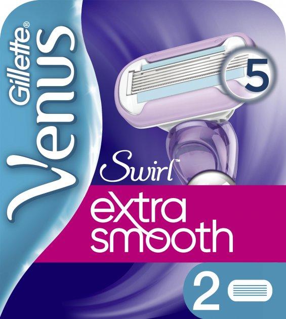 Сменные картриджи для бритья (Лезвия) женские Venus Swirl 2 шт (7702018401116)