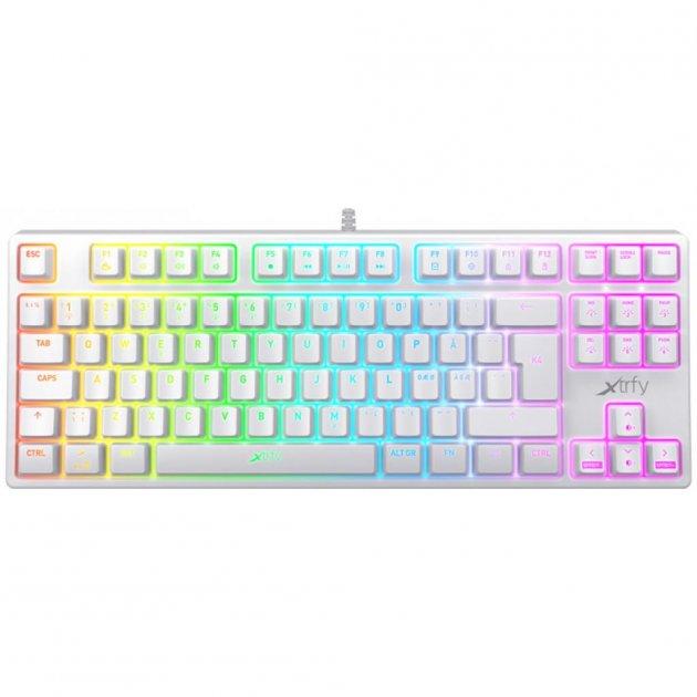 Клавиатура Xtrfy K4 TKL RGB Kailh Red Ukr-Ru White (XG-K4-RGB-TKL-WH-R-UKR) - изображение 1