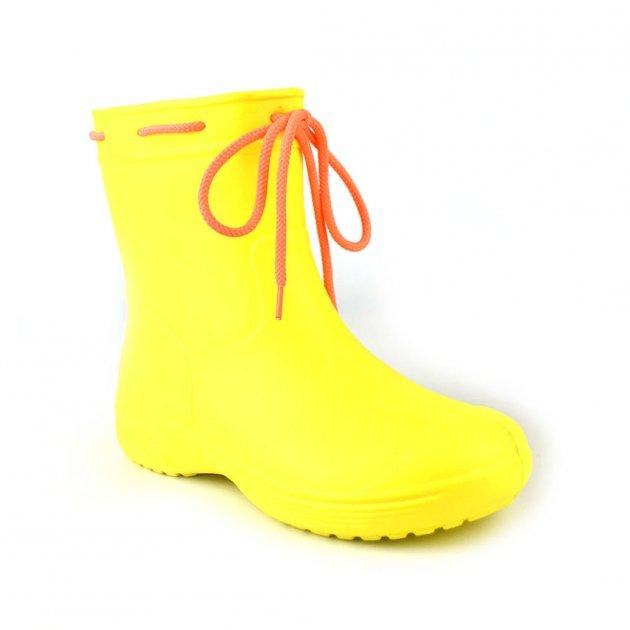 Сапоги женские резиновые EVA Jose Amorales с шнуровкой 36 р Желтый (joa_119210_1) - изображение 1