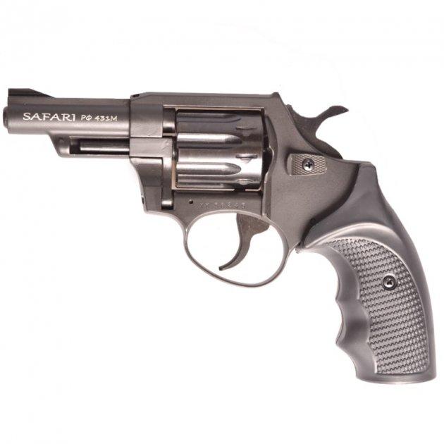 """Револьвер під патрон Флобера Safari PRO 431м (3.0"""", 4.0 mm), ворон-пластик - зображення 1"""