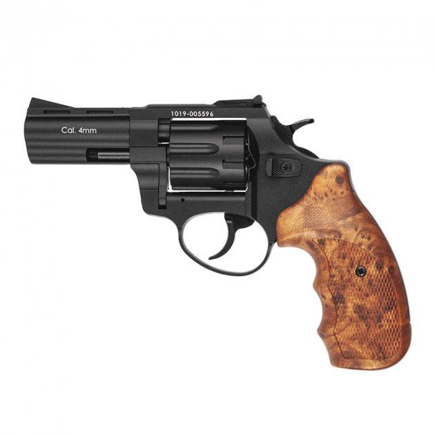 """Револьвер под патрон Флобера Stalker S (3"""", 4.0мм), черный-коричневый - изображение 1"""