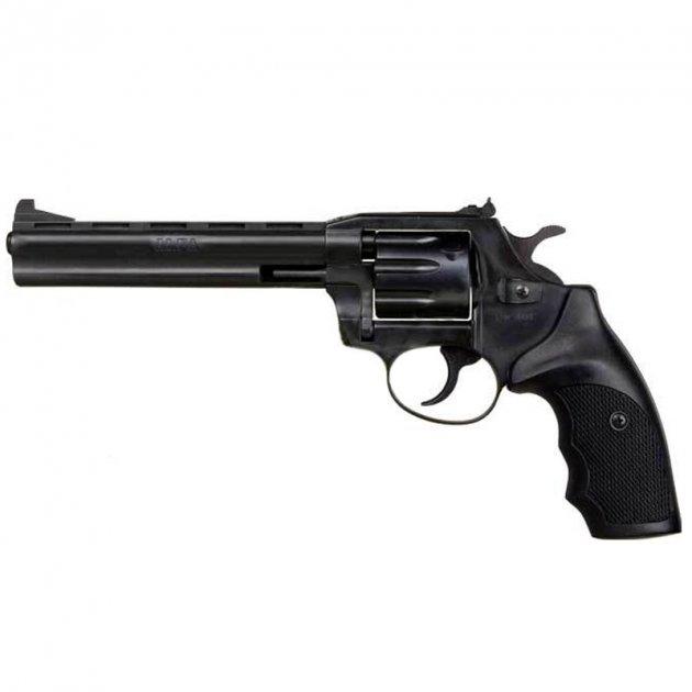 """Револьвер під патрон Флобера Alfa 461 (6.0"""", 4.0 мм), ворон-пластик - зображення 1"""