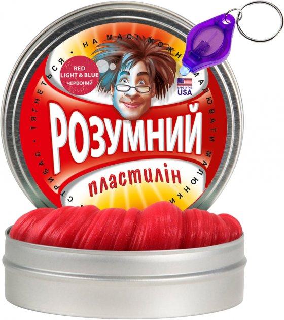 Умный пластилин Thinking Putty Red, Light & Blue 80 г (ti17004) (8594164761232) - изображение 1