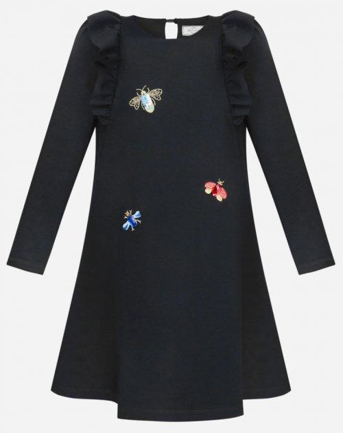 Платье Sasha 4039/1 ШФ 128 см Черное (2000963631837) - изображение 1