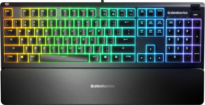 Клавіатура дротова SteelSeries Apex 3 USB ENG/RUS (SS64805) - зображення 1