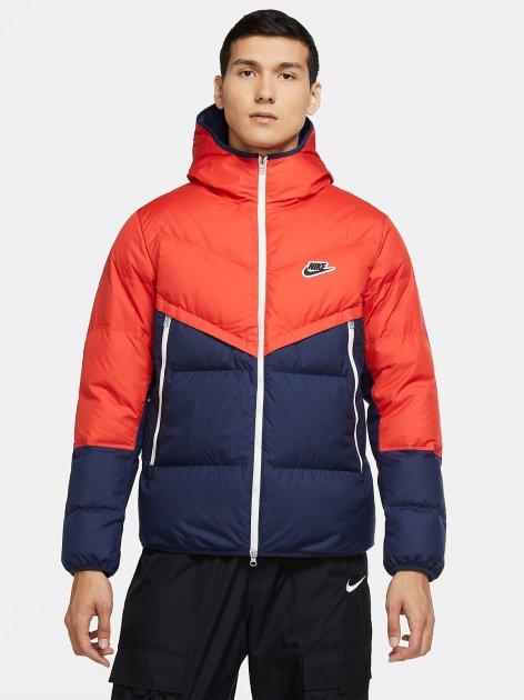 Пуховик Nike M Nsw Dwn Fil Wr Jkt Shld CU4404-673 XS Жовтогарячо-синій (194494630345) - зображення 1