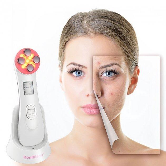 Массажер для лица и тела EMS&RF с эффектом лифтинга электромиостимуляция для подтяжки кожи светотерапия - изображение 1