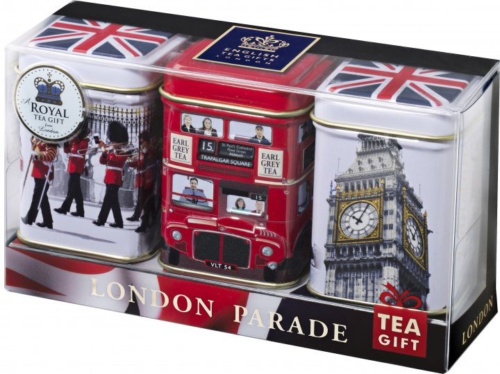 Набор черного чая Ahmad Tea London Parade Collection 3 х 25 г (54881010962) - изображение 1