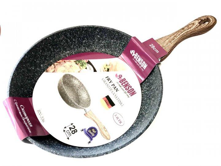 Сковорода с антипригарным покрытием 28 см Benson BN-536 - изображение 1