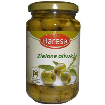 Оливки зелені без кісточки Baresa 340 g - изображение 1
