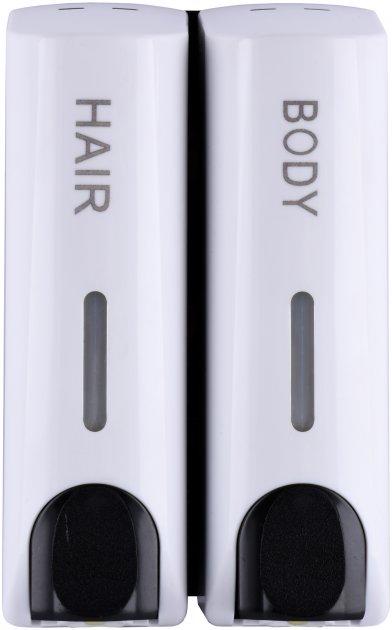 Дозатор HOTEC 13.202-ABS White двойной 2х0.35 л - изображение 1