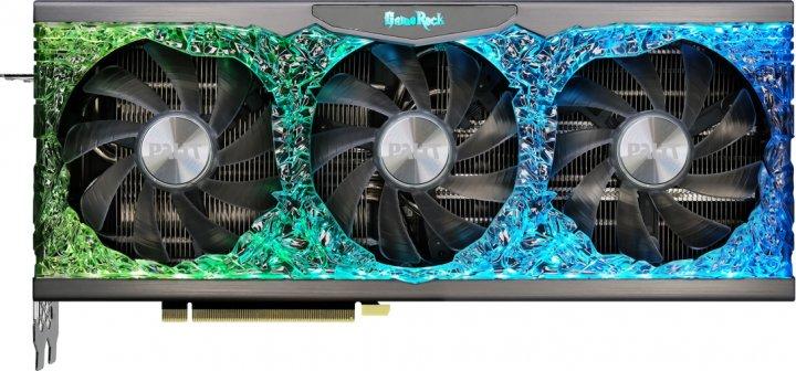 Palit PCI-Ex GeForce RTX 3090 GameRock 24GB GDDR6X (384bit) (1395/19500) (HDMI, 3 x DisplayPort) (NED3090T19SB-1021G) - зображення 1