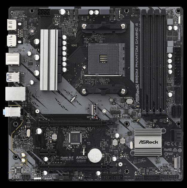 Материнська плата ASRock B550M Phantom Gaming 4 (sAM4, AMD B550, PCI-Ex16) - зображення 1