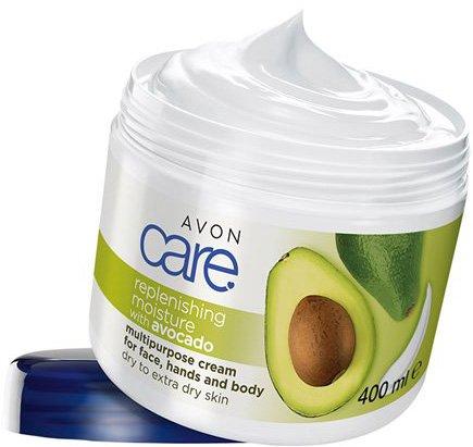 Увлажняющий мультифункциональный крем для лица, рук и тела Avon с маслом авокадо 400 мл (62391)(ROZ6400101868) - изображение 1