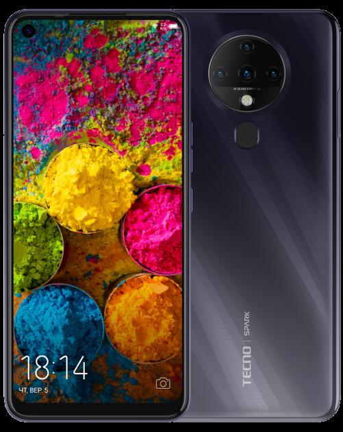 Мобильный телефон Tecno Spark 6 4/128GB Comet Black - изображение 1
