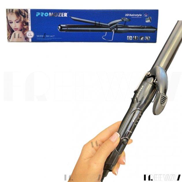 Плойка для волос с зажимом профессиональная для завивки волос 25мм Pro Mozer MZ-6627 Черная - изображение 1