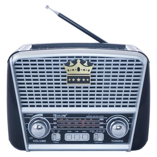 Портативный аккумуляторный Ретро Радиоприемник GoVern RX-455S (Golon) Black - изображение 1