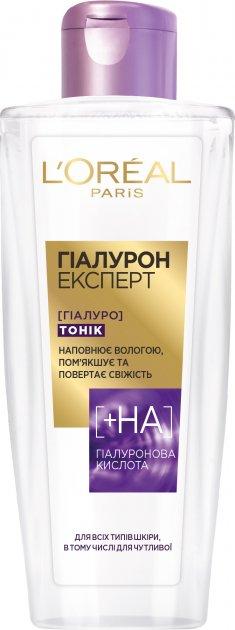 Восполняющий влагой тоник L'Oréal Paris Hyaluron Expert 200 мл (3600523959624) - изображение 1