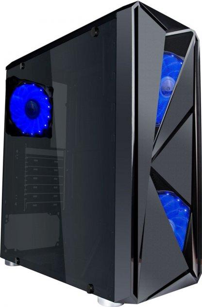 Корпус 1stPlayer F4-3A1-15LED Blue - изображение 1