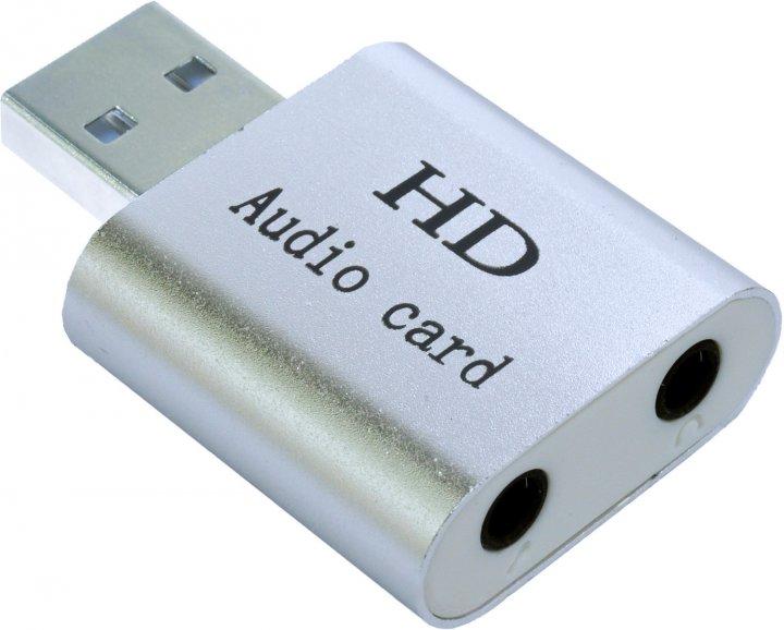 Адаптер Dynamode USB C-Media 108 7.1 каналов, алюминий Серебристая (USB-SOUND7-ALU silver) - изображение 1