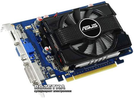Asus PCI-Ex GeForce GT 240 1024MB GDDR3 (128bit) (550/1580) (DVI, VGA, HDMI) (ENGT240/DI/1GD3) - зображення 1