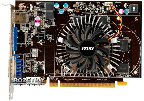 MSI PCI-Ex Radeon HD 6670 1024MB GDDR5 (128bit) (800/4000) (DVI, VGA, HDMI) (R6670-MD1GD5) - изображение 1
