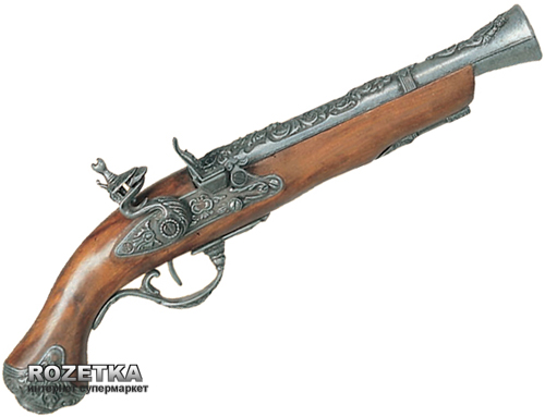 Макет пістолета з кремнієвим замком, Лондон XVIII століття, Denix (1219G) - зображення 1