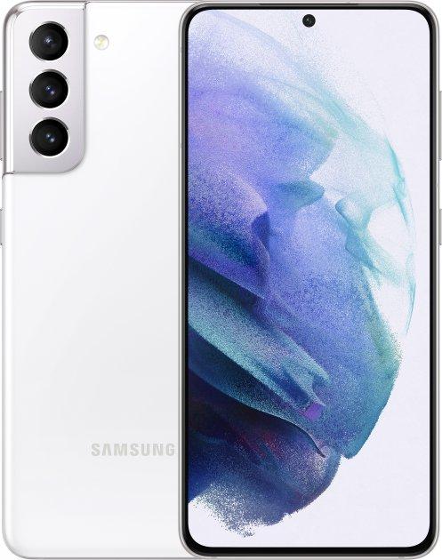 Мобильный телефон Samsung Galaxy S21 8/256GB Phantom White (SM-G991BZWGSEK) + Наушники Samsung Galaxy Buds+ в подарок! - изображение 1