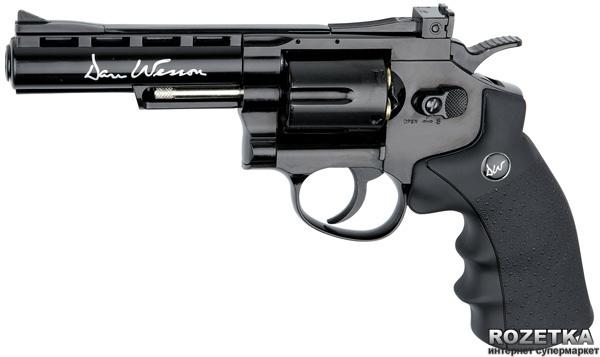 """Пневматичний пістолет ASG Dan Wesson 4"""" Black (23702523) - зображення 1"""