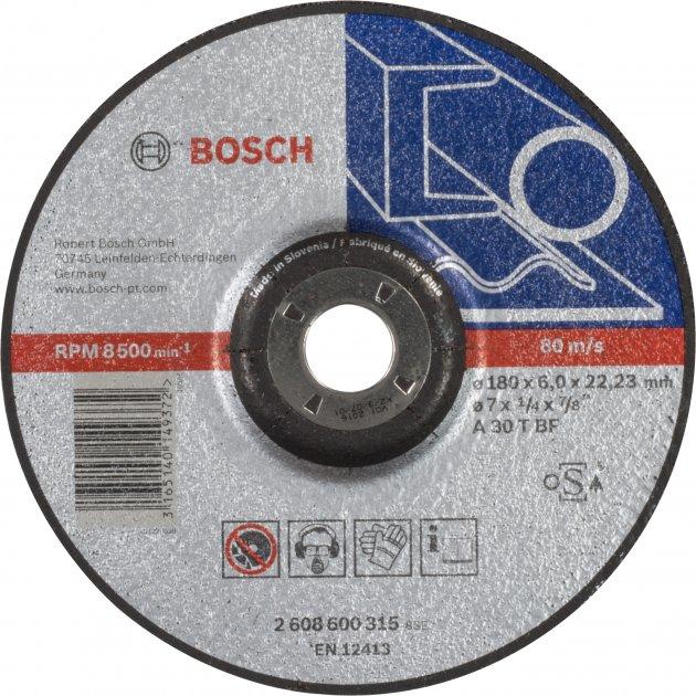 Обдирочный круг по металлу Bosch 180 x 6 мм (2608600315)