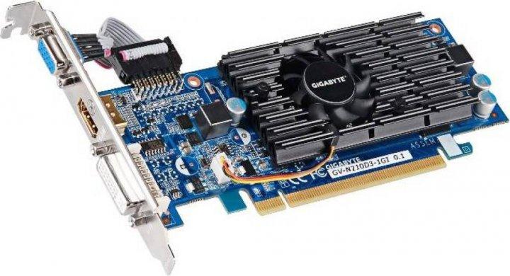 Gigabyte PCI-Ex GeForce 210 1024MB GDDR3 (64bit) (590/1200) (DVI, VGA, HDMI) (GV-N210D3-1GI) - изображение 1