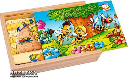 Пчелка Майя Bino 4 пазла в коробке (13607) - изображение 1