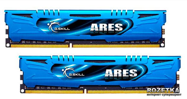 Оперативная память G.Skill DDR3-2400 8192MB PC3-19200 (Kit of 2x4096) Ares LP Series Blue (F3-2400C11D-8GAB) - изображение 1