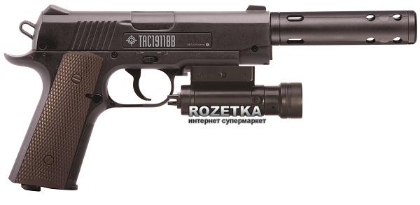 Пневматичний пістолет Crosman TAC 1911BB (40005) - зображення 1