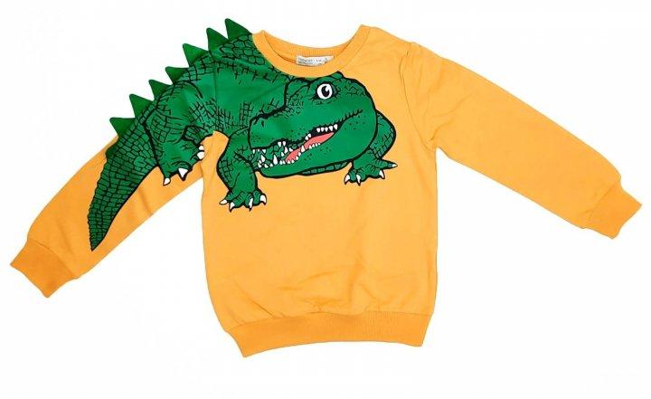 Батнік на хлопчика Toontoy Крокодил р 116 жовтий - зображення 1
