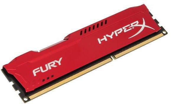 Оперативна пам'ять HyperX DDR3-1866 4096MB PC3-14900 FURY Red (HX318C10FR/4) - зображення 1