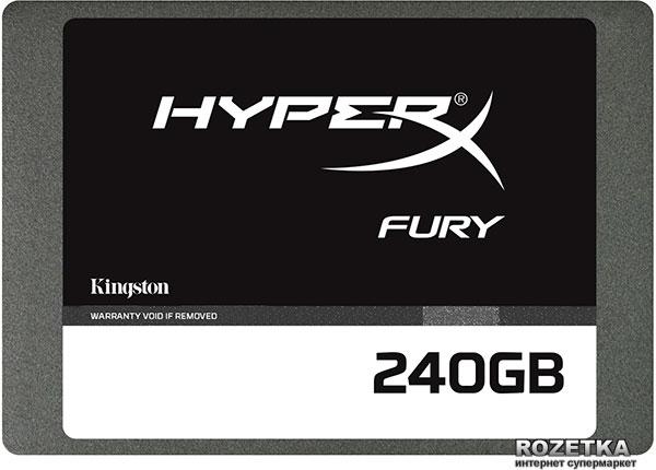 """Kingston HyperX Fury 240GB 2.5"""" SATAIII MLC (SHFS37A/240G) - изображение 1"""