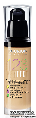 Тональный крем Bourjois 1.2.3. Perfect 30 мл 52 - Светлый бежевый (3052503635200) - изображение 1